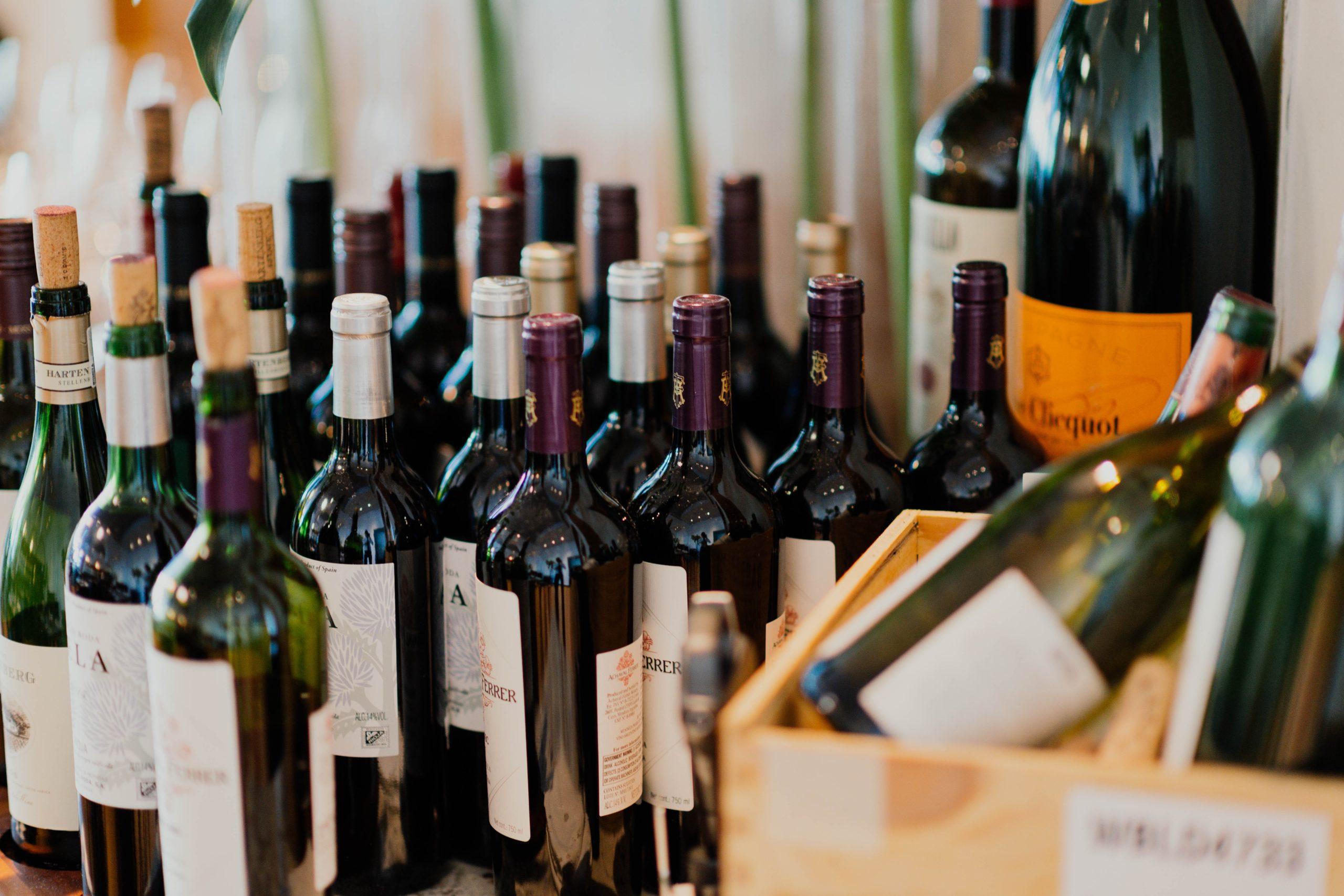 Botellas de vino